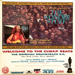 "Wonder Stuff (The) ‎- Welcome To The Cheap Seats EP (7"") (EX/VG++)"